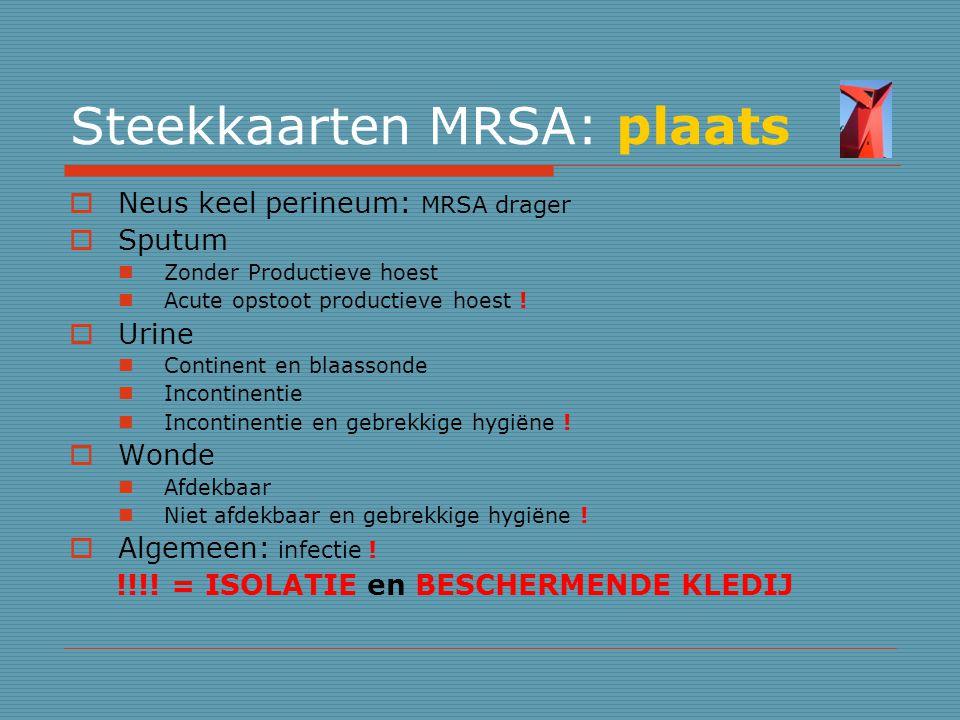 Steekkaarten MRSA: plaats