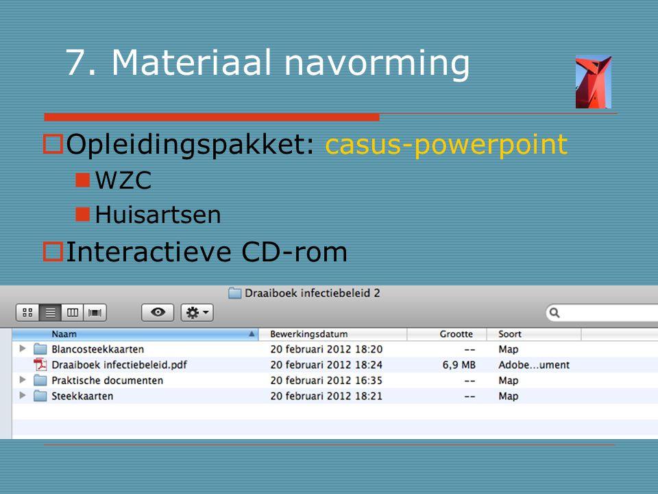 7. Materiaal navorming Opleidingspakket: casus-powerpoint