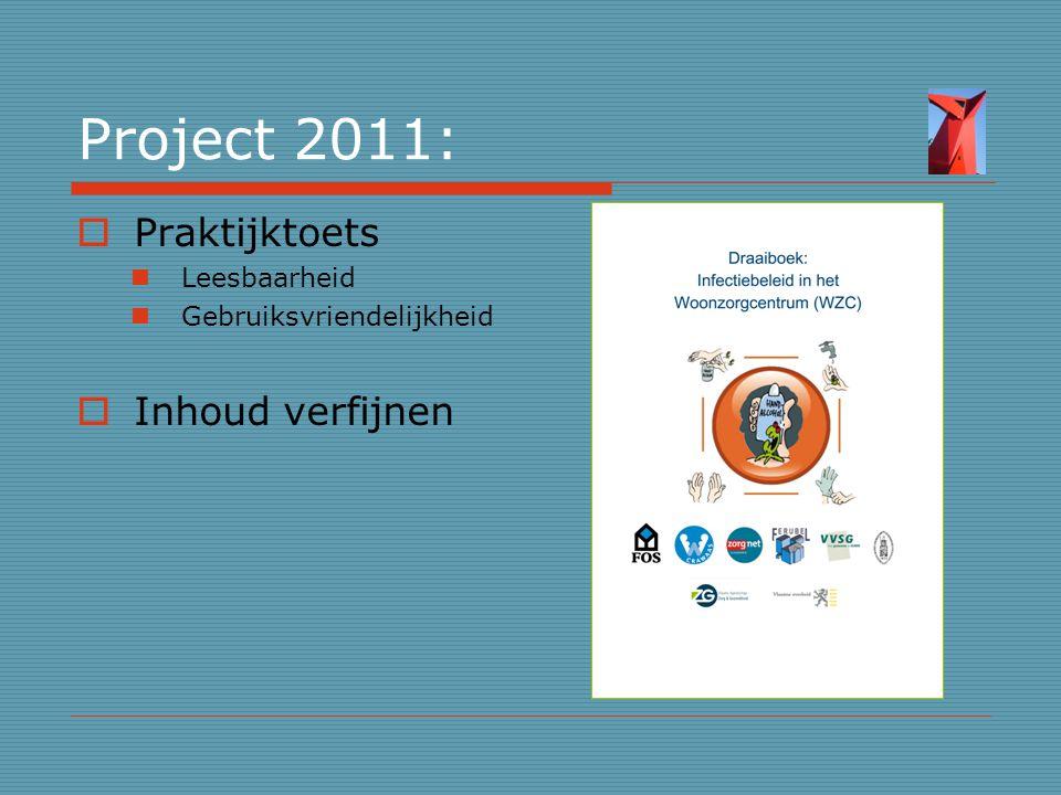 Project 2011: Praktijktoets Inhoud verfijnen Leesbaarheid