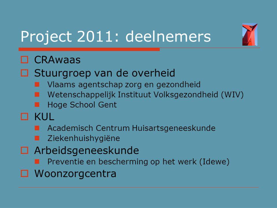 Project 2011: deelnemers CRAwaas Stuurgroep van de overheid KUL