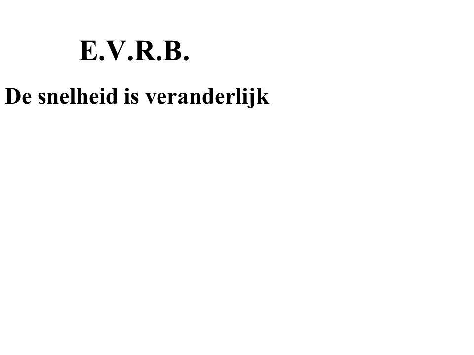 E.V.R.B. De snelheid is veranderlijk