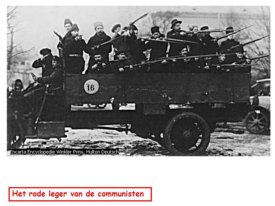 Het rode leger van de communisten