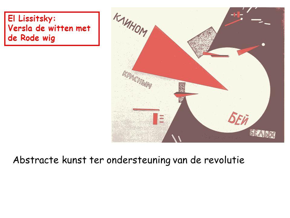 Abstracte kunst ter ondersteuning van de revolutie