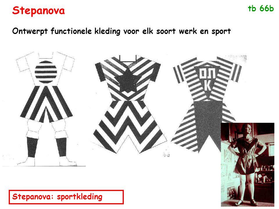 Stepanova tb 66b Ontwerpt functionele kleding voor elk soort werk en sport Stepanova: sportkleding