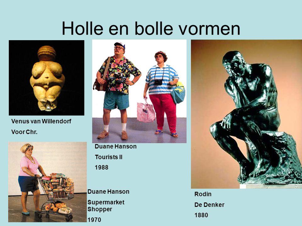 Holle en bolle vormen Venus van Willendorf Voor Chr. Duane Hanson