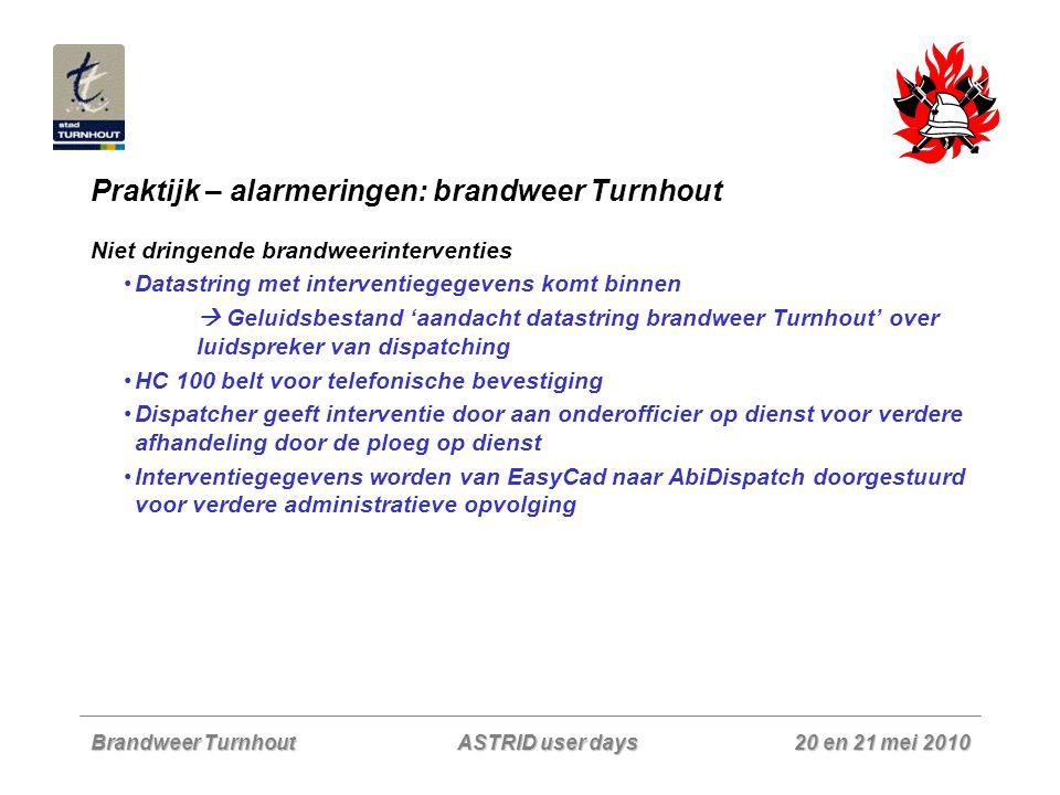 Praktijk – alarmeringen: brandweer Turnhout