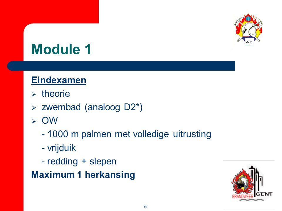 Module 1 Eindexamen theorie zwembad (analoog D2*) OW