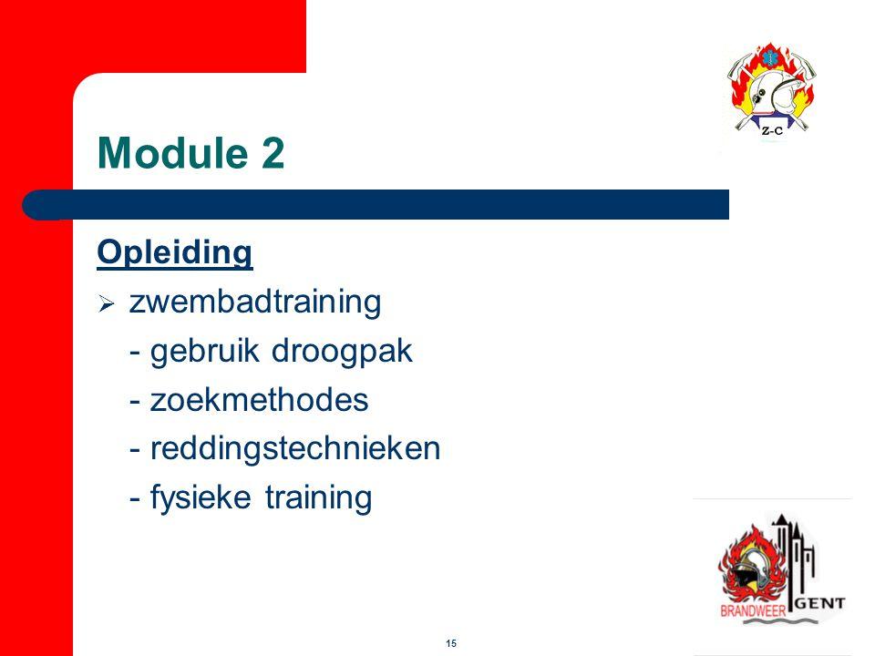 Module 2 Opleiding zwembadtraining - gebruik droogpak - zoekmethodes