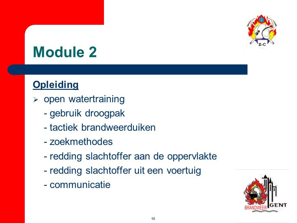 Module 2 Opleiding open watertraining - gebruik droogpak