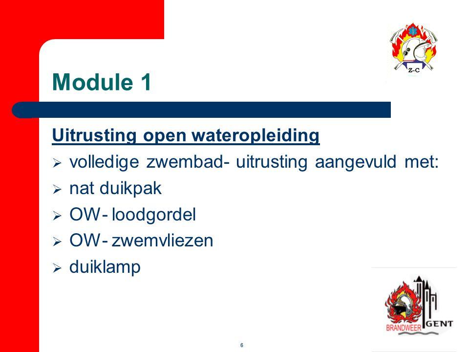 Module 1 Uitrusting open wateropleiding