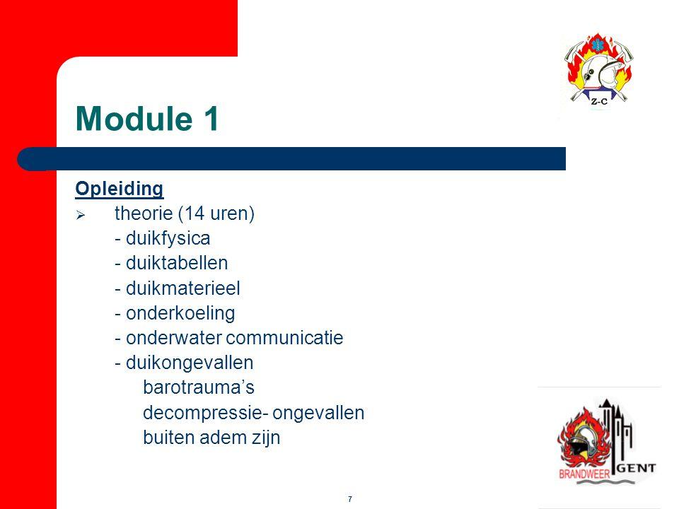 Module 1 Opleiding theorie (14 uren) - duikfysica - duiktabellen