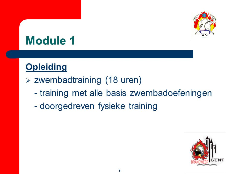 Module 1 Opleiding zwembadtraining (18 uren)