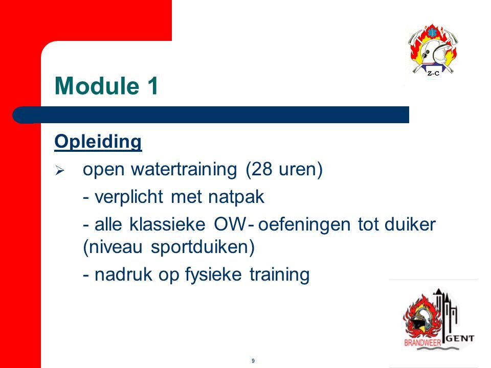 Module 1 Opleiding open watertraining (28 uren) - verplicht met natpak