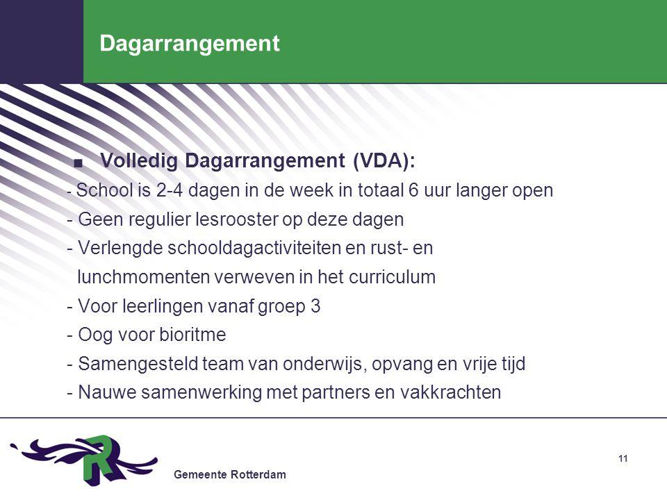 Dagarrangement Volledig Dagarrangement (VDA):