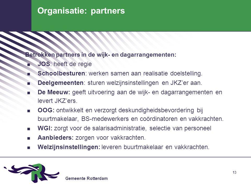 Organisatie: partners