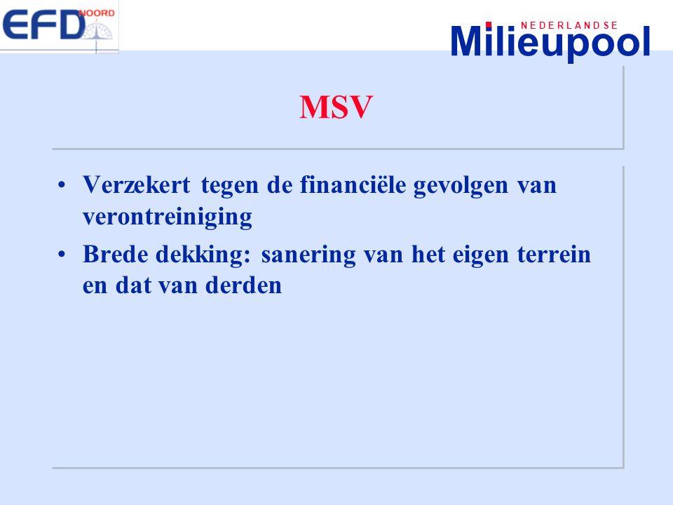 MSV Verzekert tegen de financiële gevolgen van verontreiniging