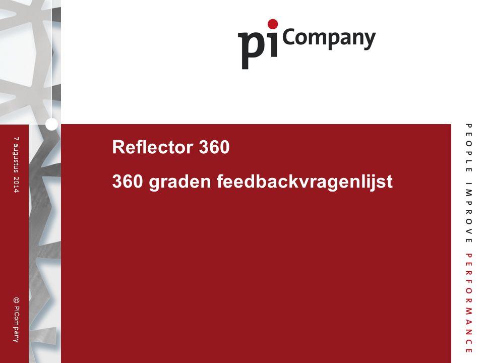 Reflector 360 360 graden feedbackvragenlijst