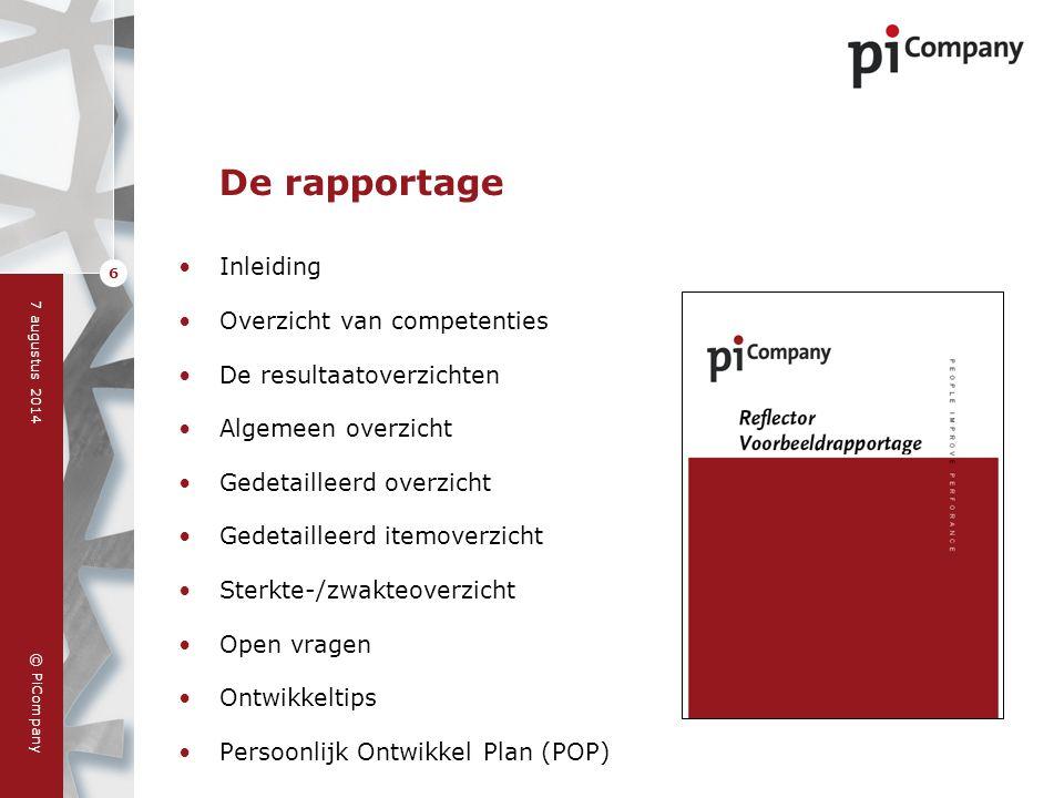 De rapportage Inleiding Overzicht van competenties