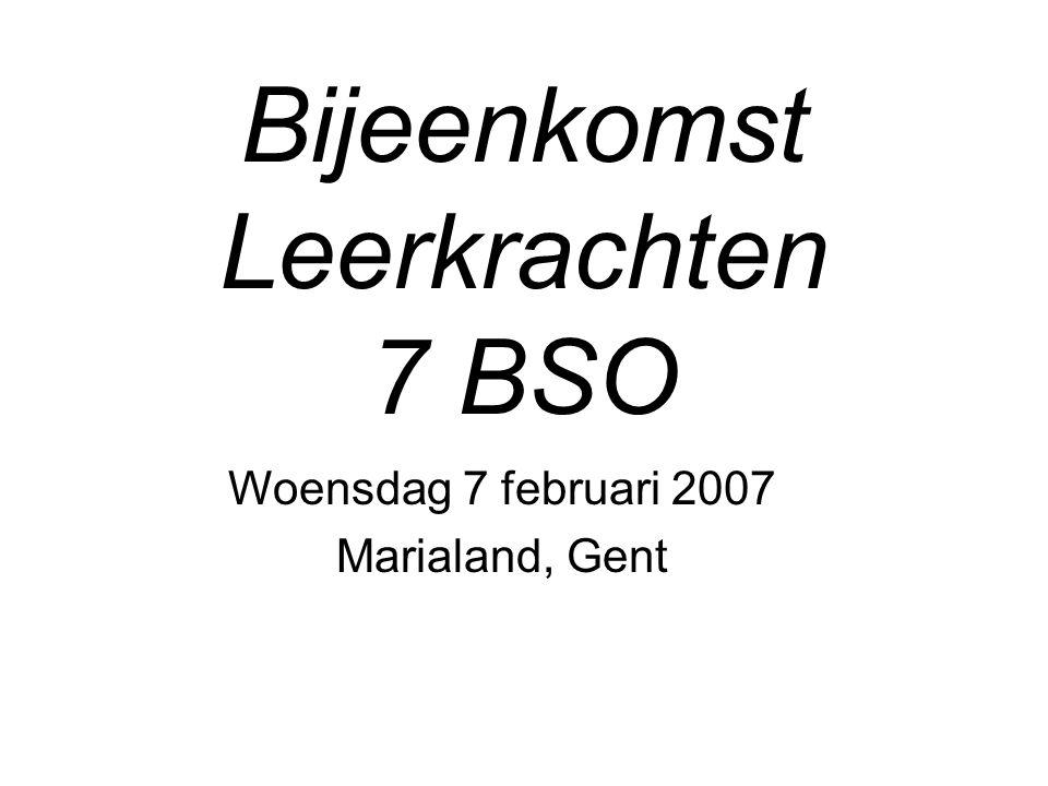 Bijeenkomst Leerkrachten 7 BSO