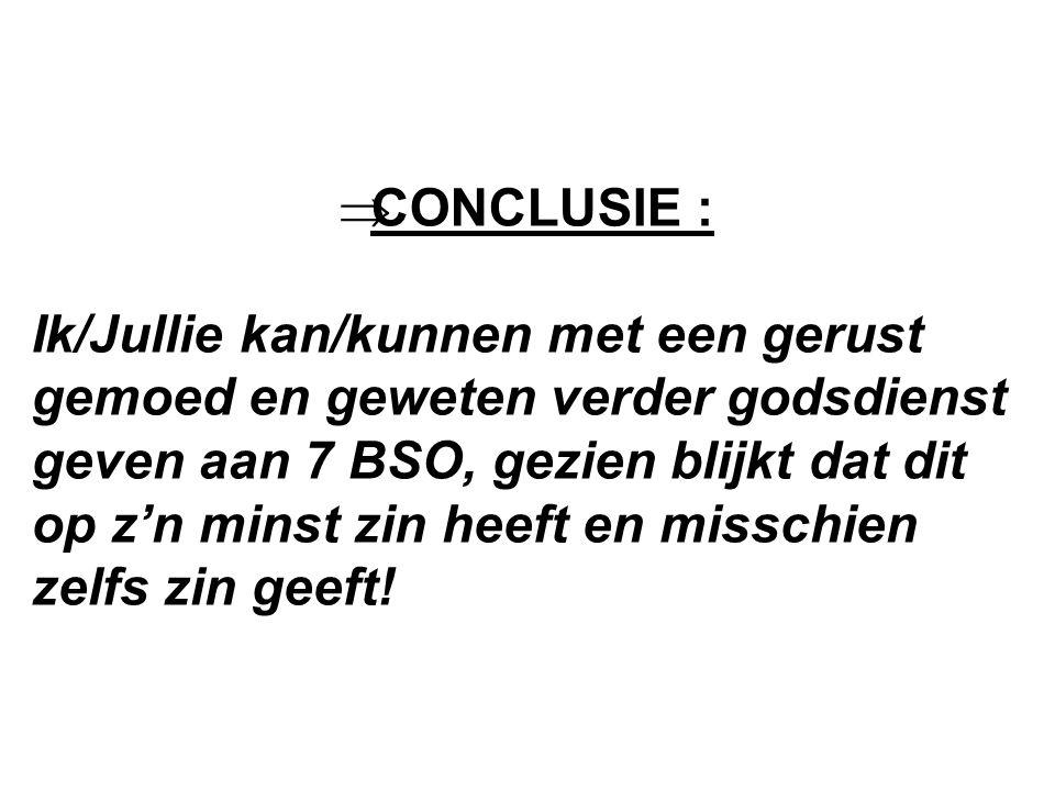 CONCLUSIE :