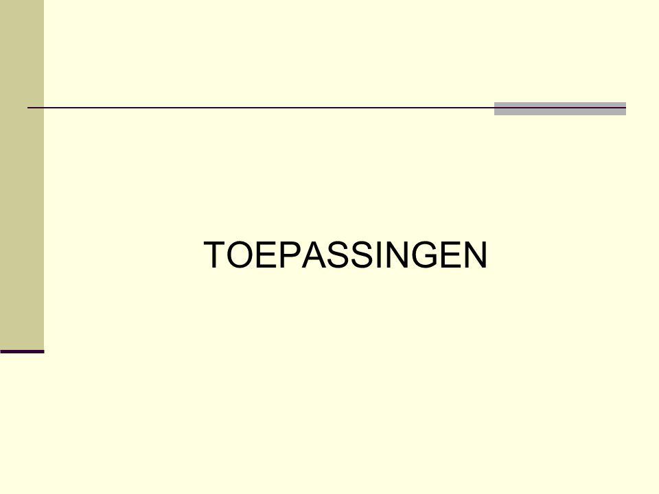 TOEPASSINGEN