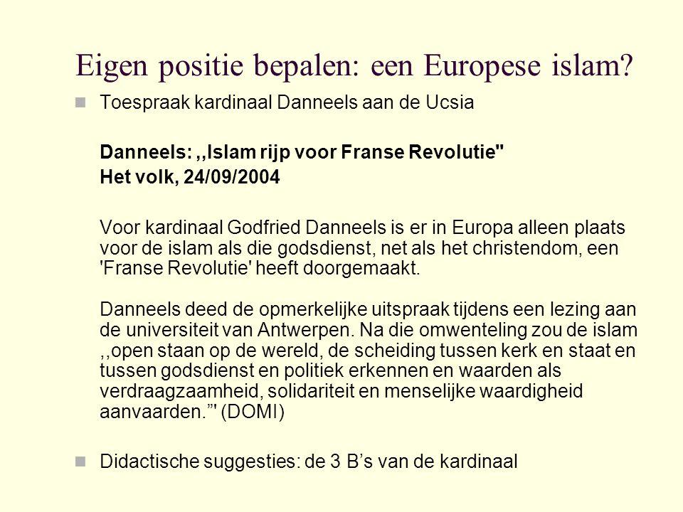 Eigen positie bepalen: een Europese islam