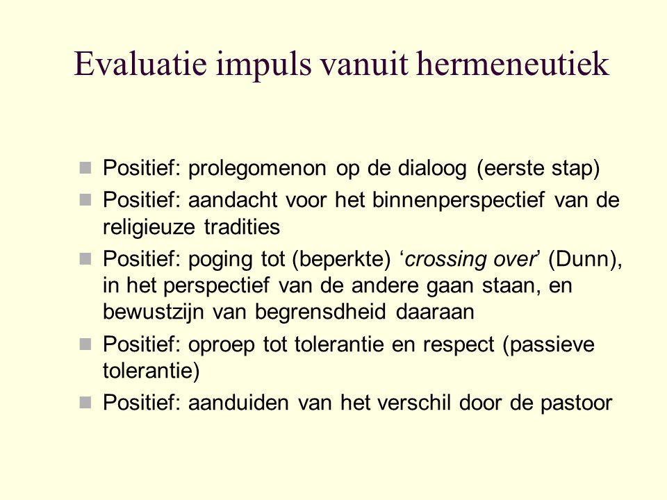 Evaluatie impuls vanuit hermeneutiek