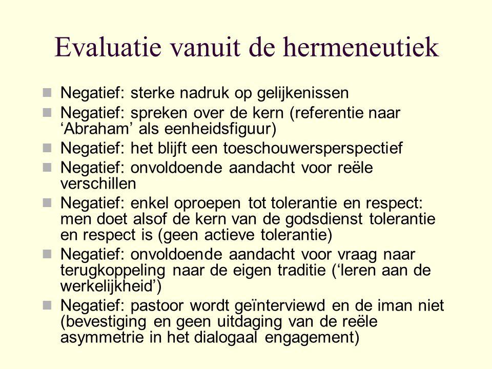 Evaluatie vanuit de hermeneutiek