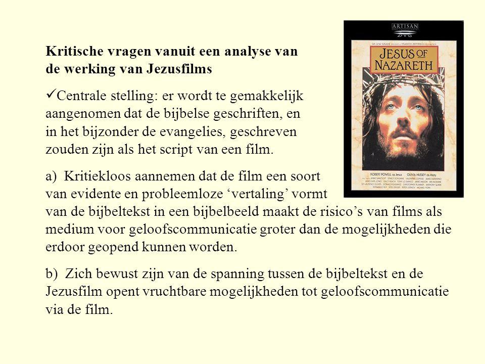 Kritische vragen vanuit een analyse van de werking van Jezusfilms