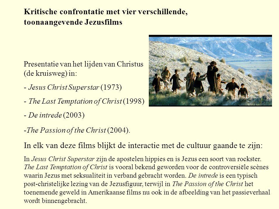 Kritische confrontatie met vier verschillende, toonaangevende Jezusfilms
