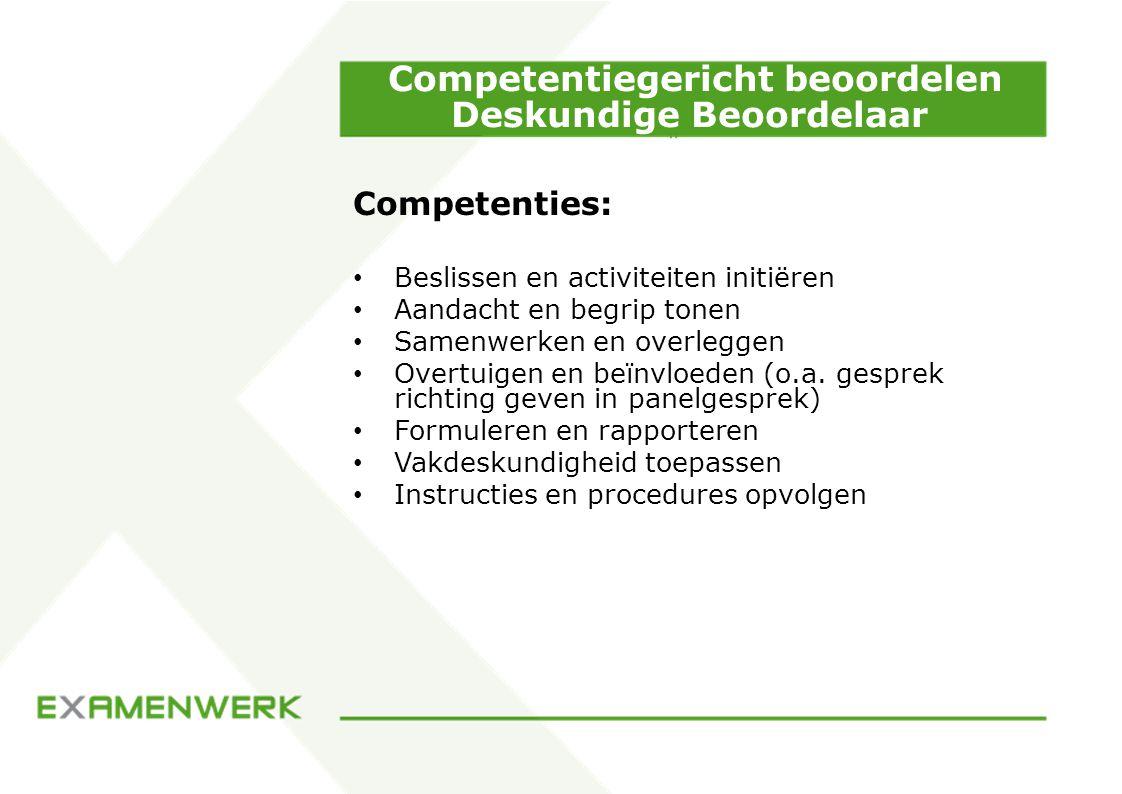 Competentiegericht beoordelen Deskundige Beoordelaar