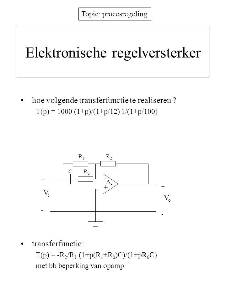 Elektronische regelversterker