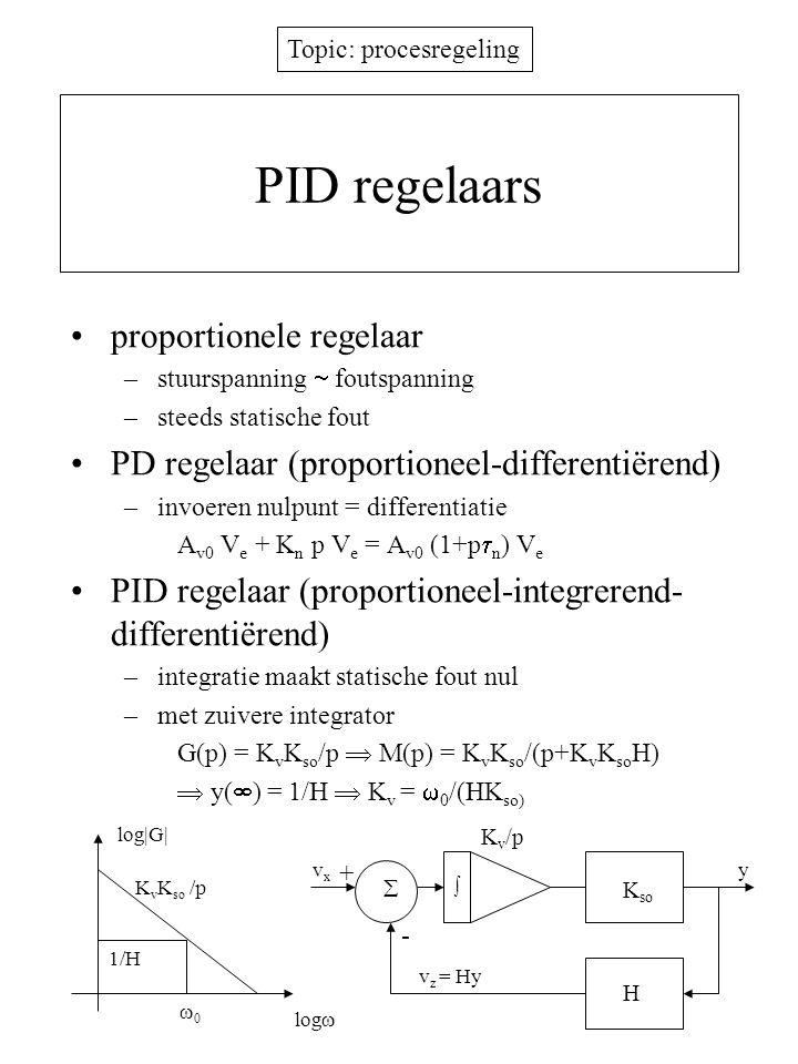 PID regelaars proportionele regelaar