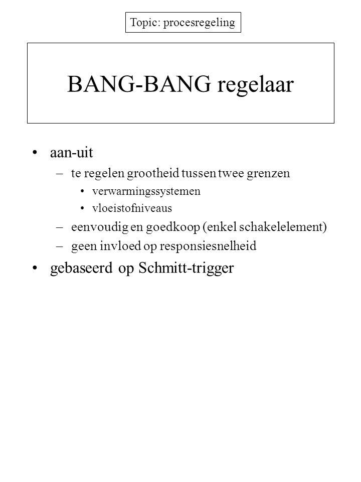 BANG-BANG regelaar aan-uit gebaseerd op Schmitt-trigger