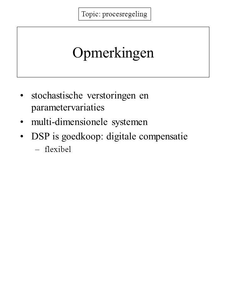 Opmerkingen stochastische verstoringen en parametervariaties