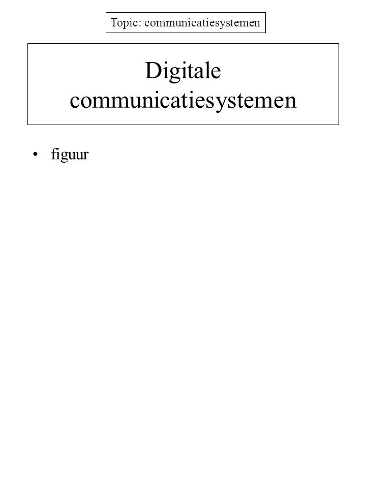 Digitale communicatiesystemen