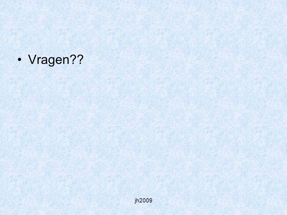 Vragen jh2009