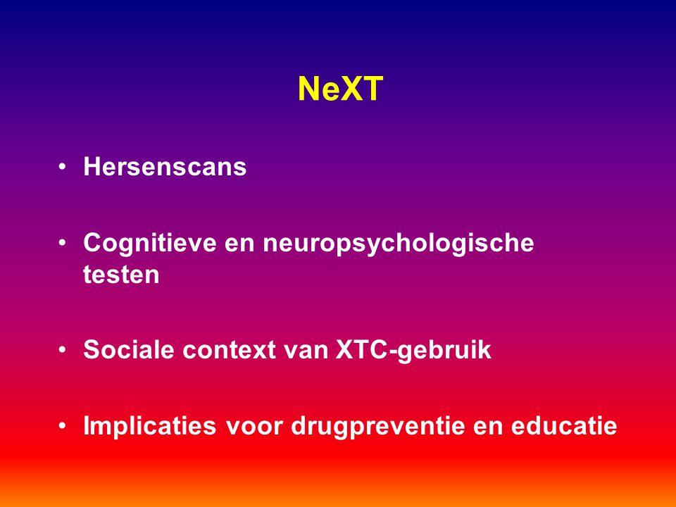 NeXT Hersenscans Cognitieve en neuropsychologische testen