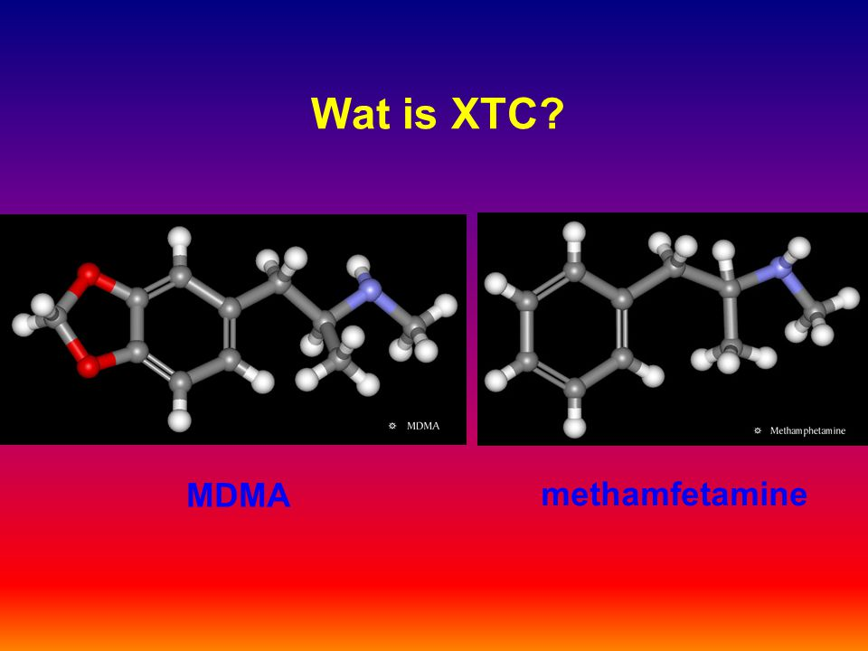 Wat is XTC MDMA methamfetamine