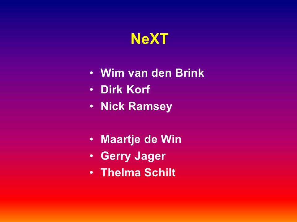 NeXT Wim van den Brink Dirk Korf Nick Ramsey Maartje de Win