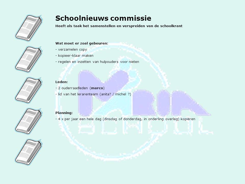 Schoolnieuws commissie