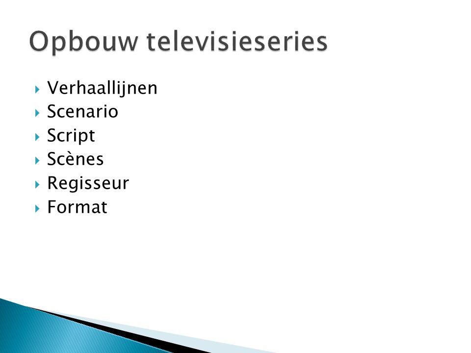 Opbouw televisieseries