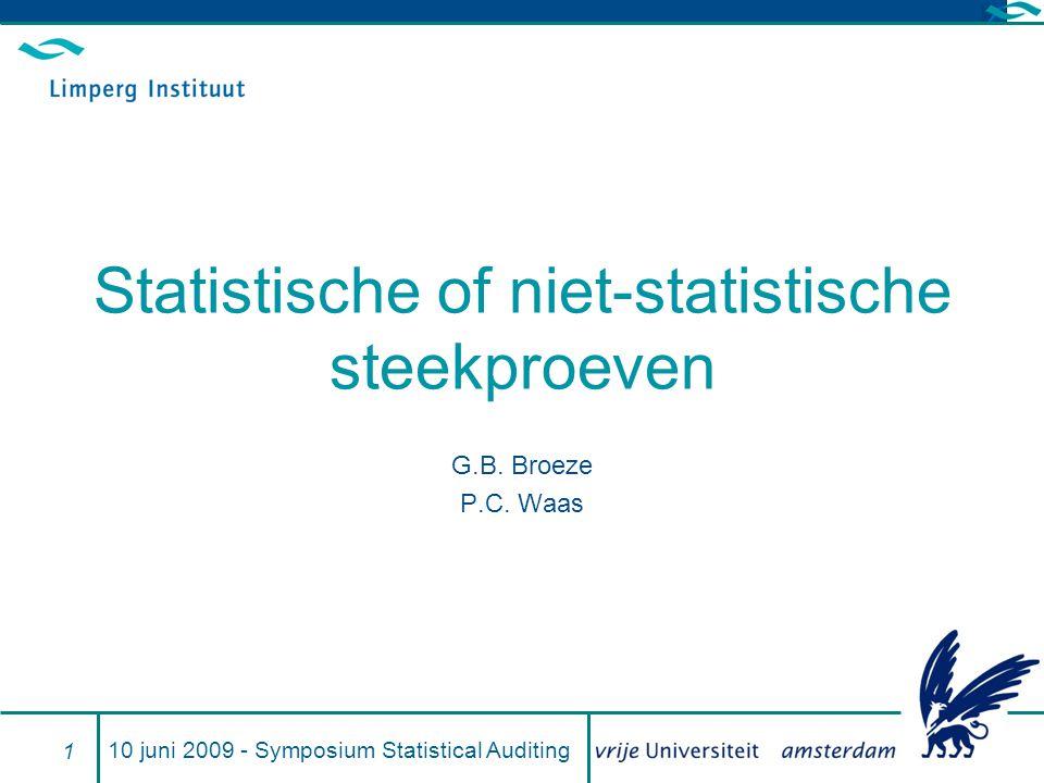 Statistische of niet-statistische steekproeven