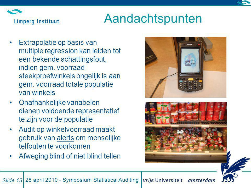 28 april 2010 - Symposium Statistical Auditing