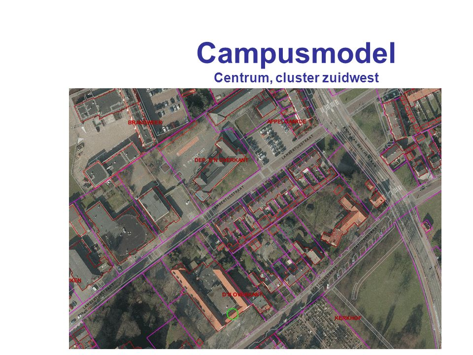 Campusmodel Centrum, cluster zuidwest