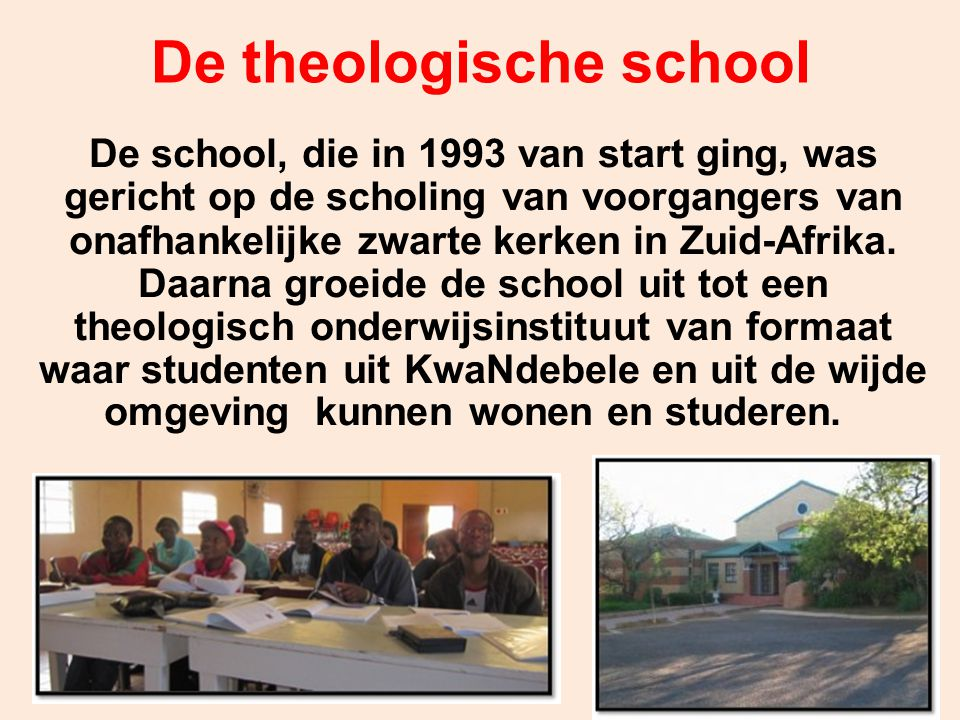 De theologische school