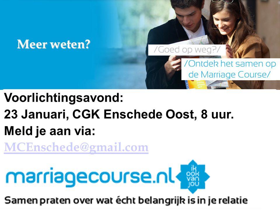 23 Januari, CGK Enschede Oost, 8 uur. Meld je aan via: