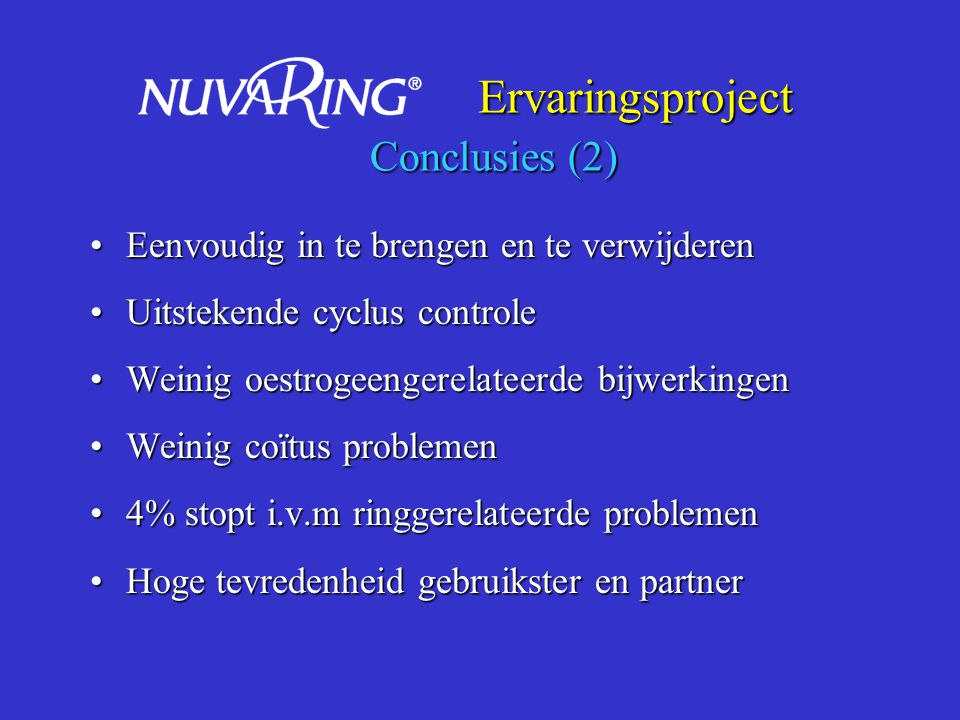 Ervaringsproject Conclusies (2)