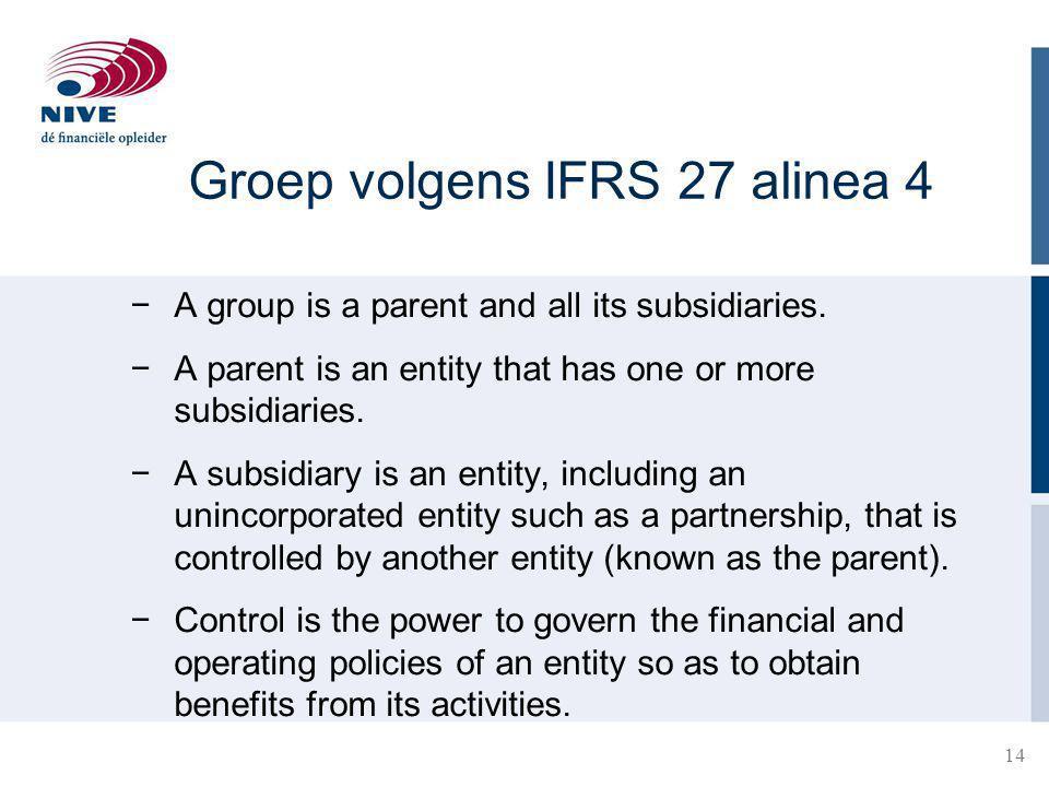 Groep volgens IFRS 27 alinea 4