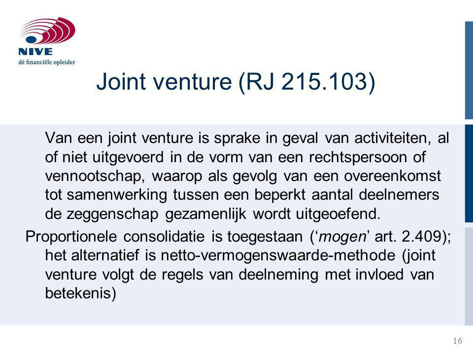 Joint venture (RJ 215.103)